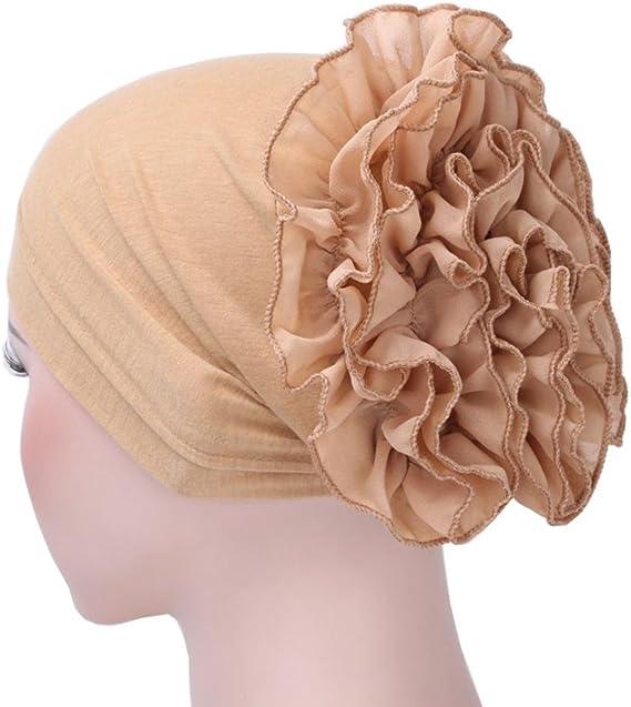 Maquillage iB/àste Turban Chimio Femme Musulmane Bonnet Hijab Bandana Chapeau de Femme pour Chimioth/érapie Dormir Chute Cheveux