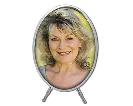 Foto nicho personalizado, ovalado con marco y pie - 7 x 10 cm