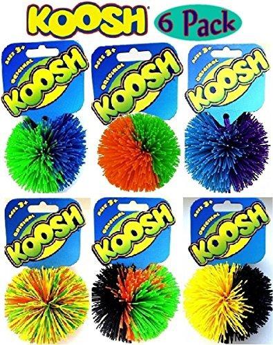 Koosh Balls Multi-Color Gift Set Bundle - 6 Pack -