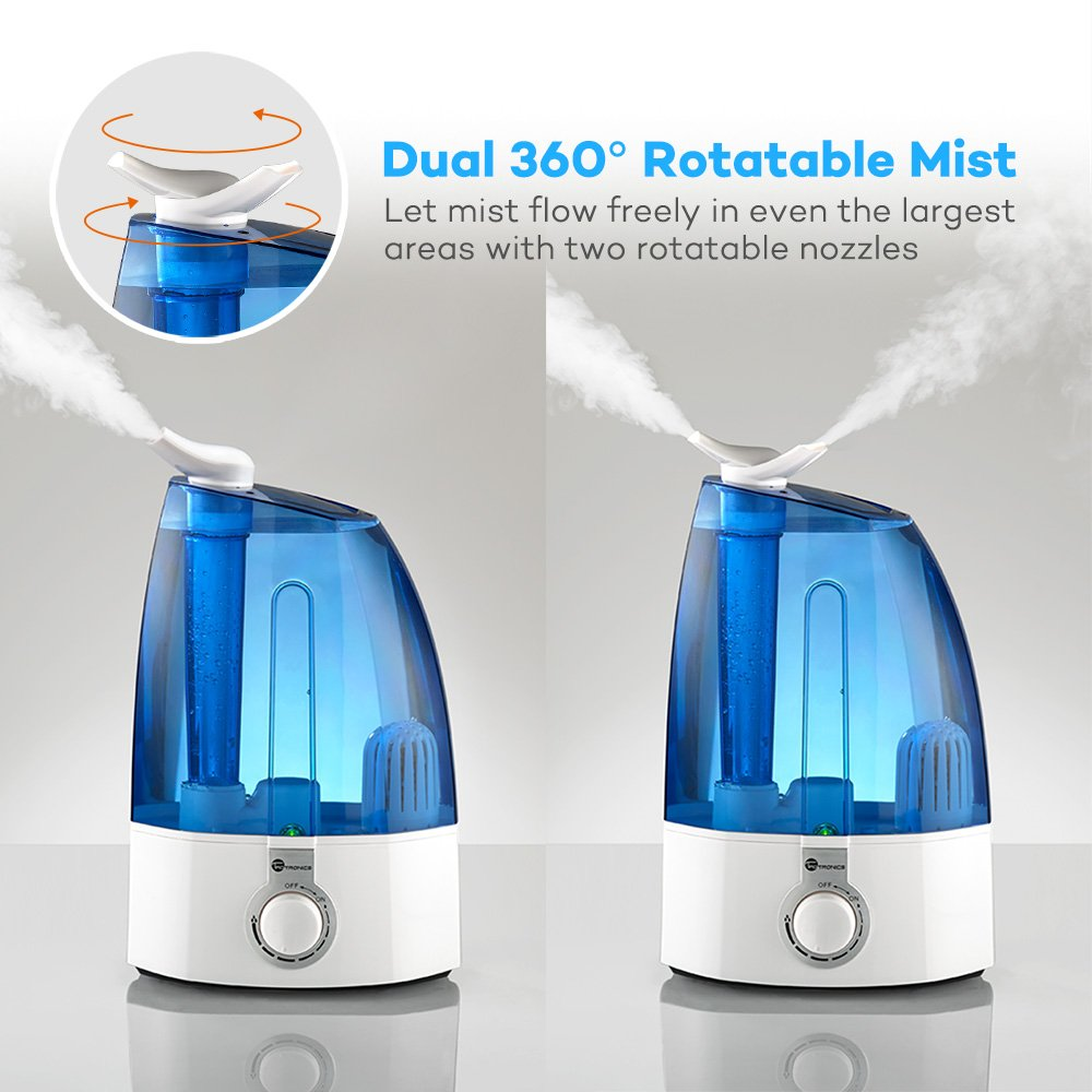 TaoTronics Ultrasonic Humidifiers, Cool Mist Humidifier for Home Bedroom