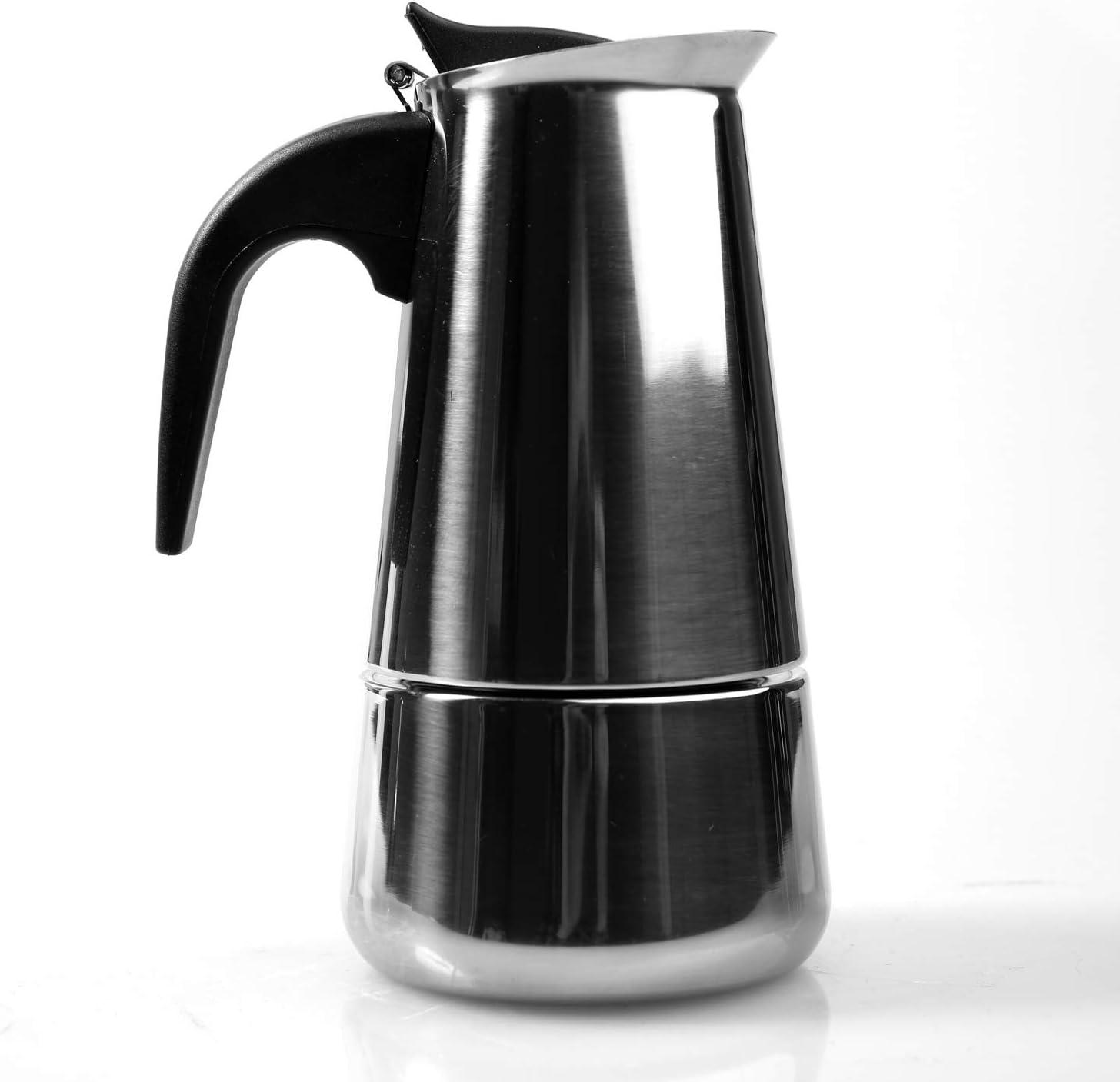 MI CASA Cafetera Italiana de Acero Inoxidable para 9 Tazas: Amazon.es: Hogar