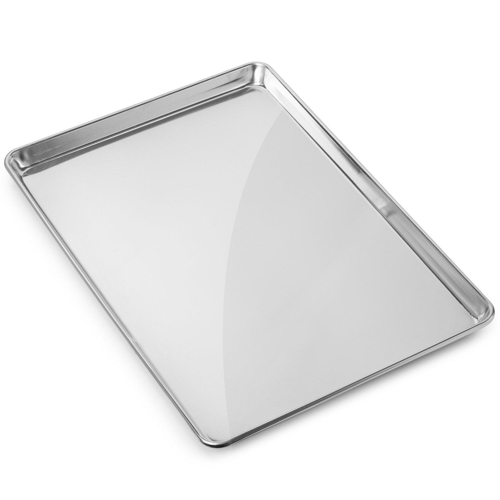 Gridmann 13'' x 18'' Commercial Grade Aluminium Cookie Sheet Baking Tray Jelly Roll Pan Half Sheet - 1 Pan