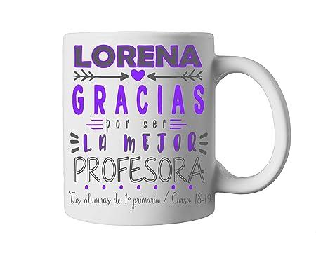 Kembilove Taza Café Profesora – Taza de Desayuno Gracias por ser la Mejor Profesora – Taza de Café y Té para Profesora – Taza de Cerámica Impresa – ...