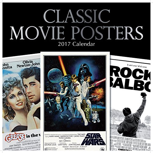 Classic Popular Hollywood Film Movie Posters 2017 Monthly Wall Calendar, 12