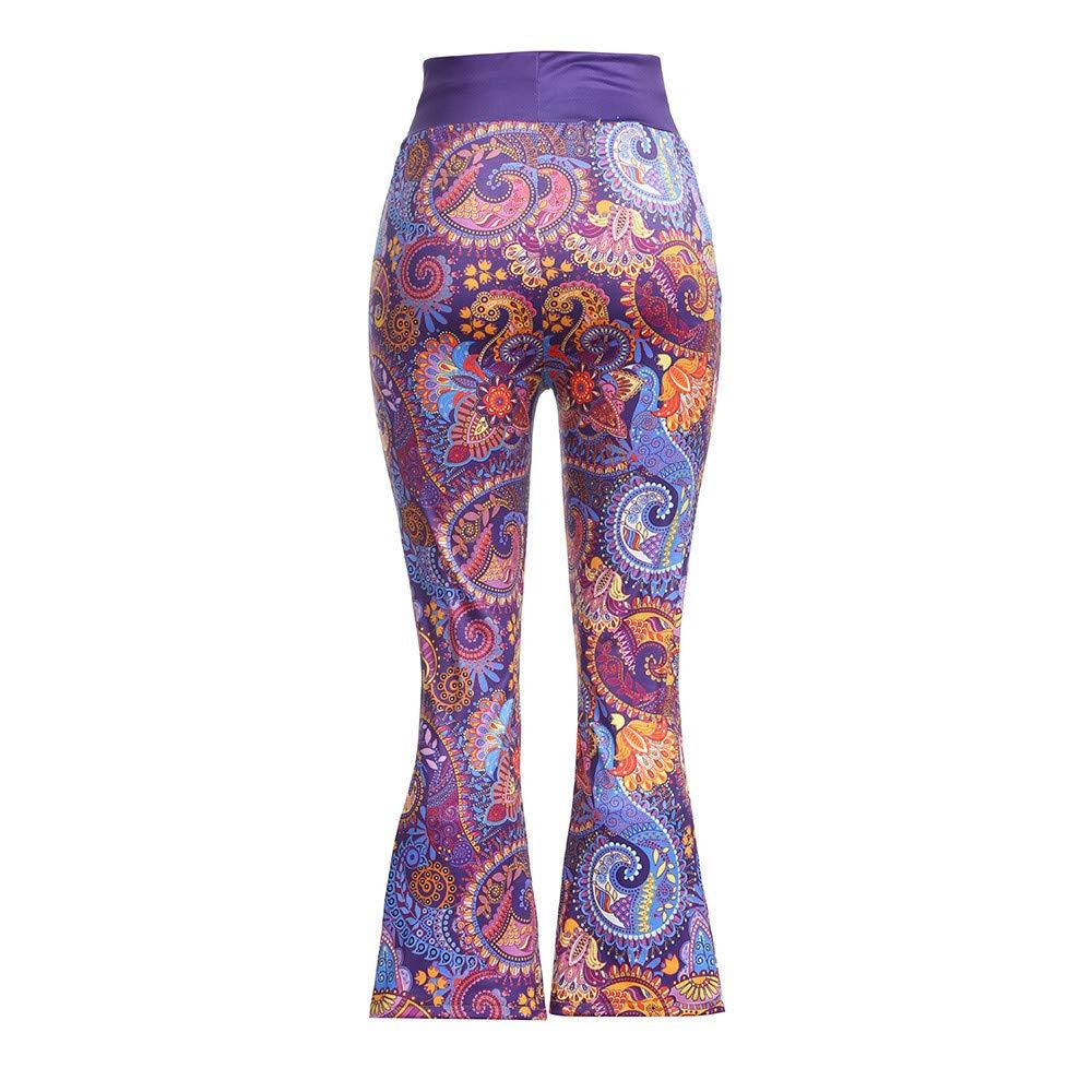 Women Pajama Pants Wide Leg Floral Bohe Print Sleepwear Casual Flare Trousers