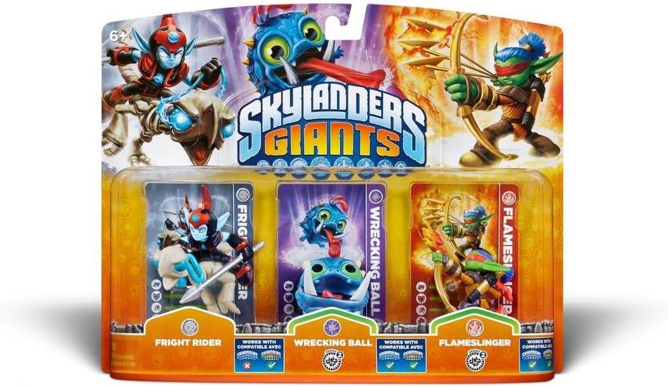 Skylanders Giants - Triple Pack Figuras G: Wrecking Ball, Fright Rider, Flameslinger: Amazon.es: Videojuegos