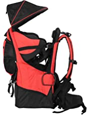 DUKWIN Baby Carrier, Baby Backpack Hiking Toddler Child Carrier Lightweight with Stand & Sun Shade Visor,Holds up to 50 Pound for Kids 6 Months-4 Years