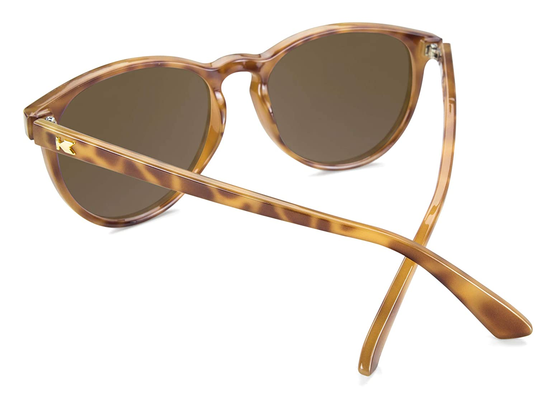 27cdd050da Amazon.com  Knockaround Mai Tais Polarized Sunglasses With Blonde Tortoise  Shell Frames Brown Lenses  Clothing