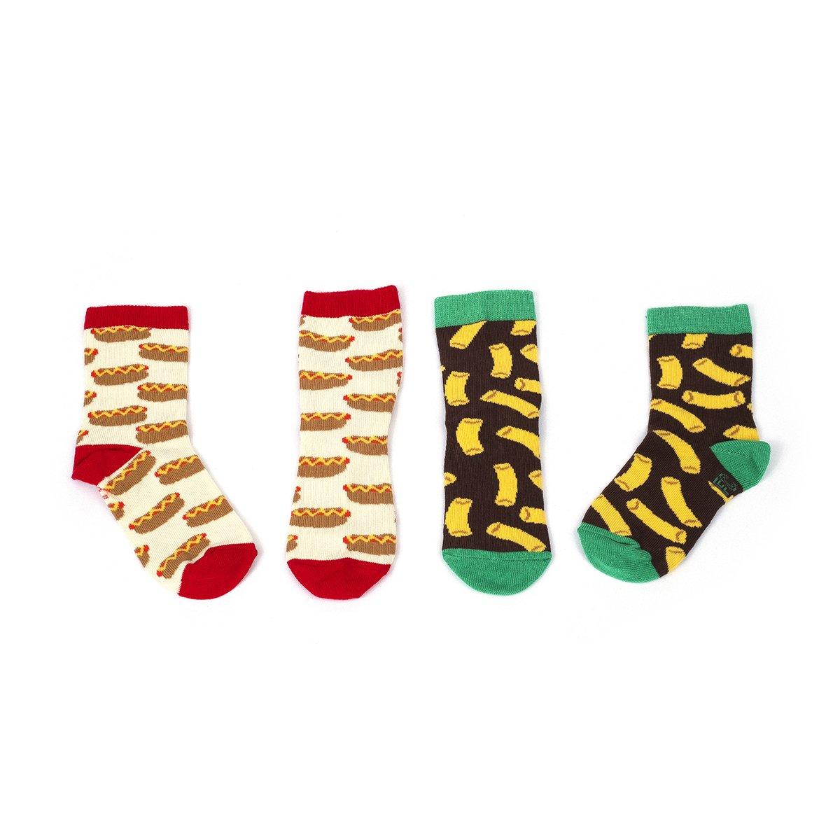 Foot Cardigan Boys' Snack Pack 2 Pack Socks Medium (Big Boys) Red/Yellow