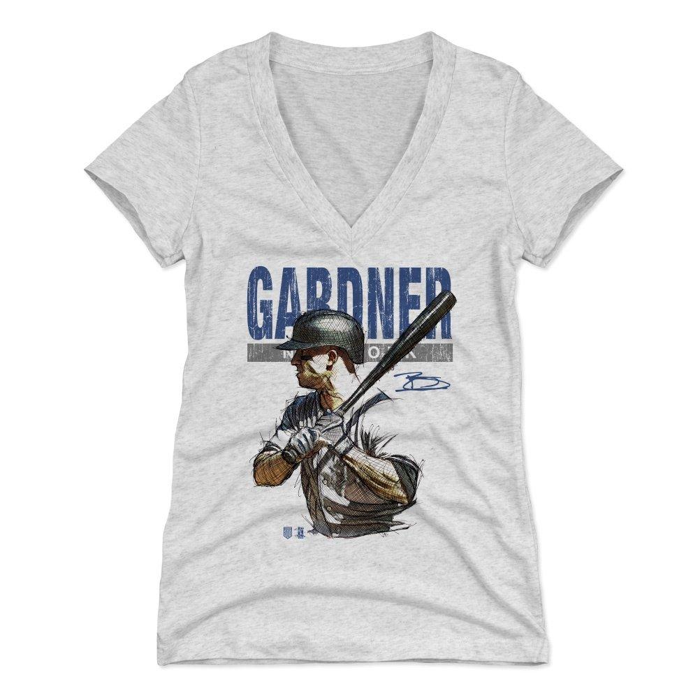 timeless design 690d8 3fd63 500 LEVEL Brett Gardner Women's Shirt - New York Baseball Shirt for Women -  Brett Gardner Sketch