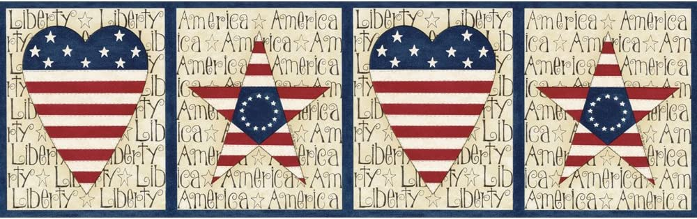 Decorate By Color BC1580411 Blue Stars and Stripes Border
