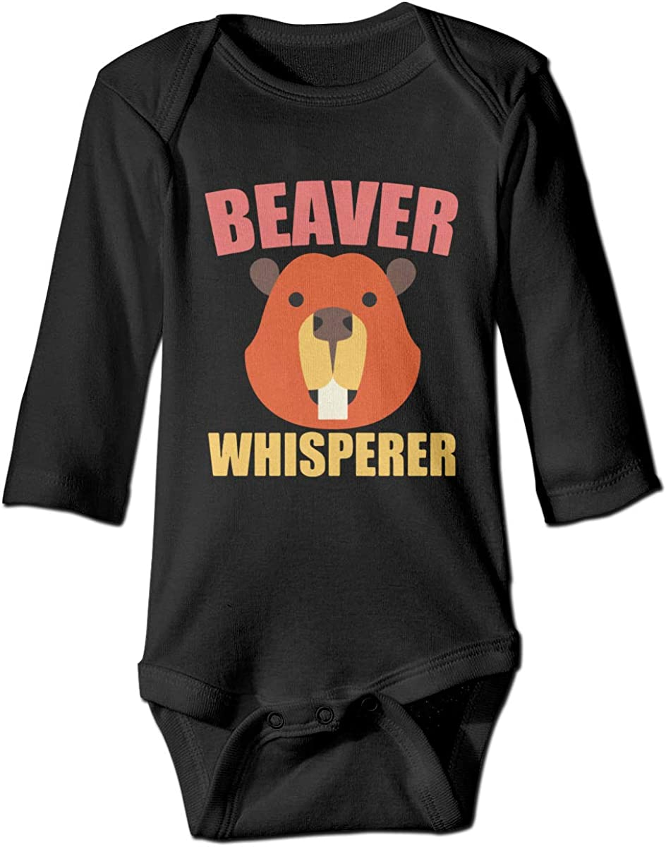 Beaver Funny Design Printed Toddler Baby Girls Long-Sleeved Bodysuits Coverall Jumpsuit