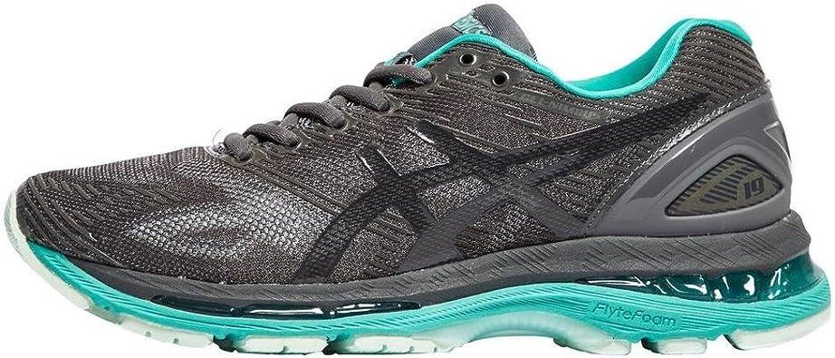 Asics Gel-Nimbus 19 Lite-Show, Zapatillas de Running para Mujer, Gris (Dark Grey/Black/Reflective), 39.5 EU: Amazon.es: Zapatos y complementos