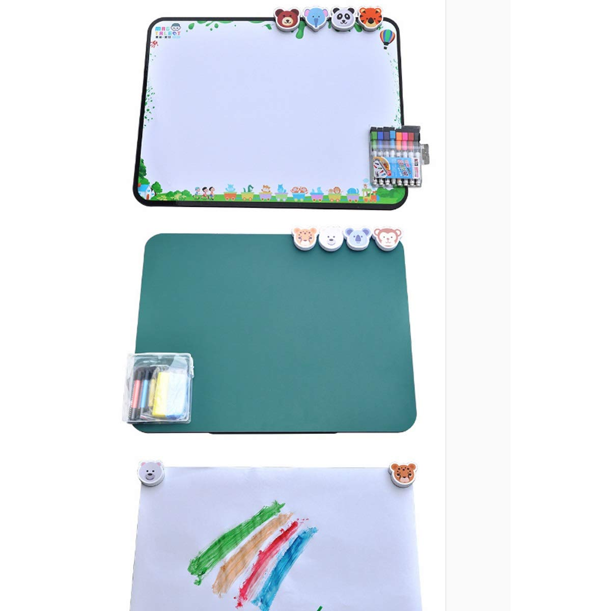 8haowenju Detachable Magnetic Multi-Function Portable Drawing Board, Writing Board, Note Board, Magnetic Photo Frame, Multi-Function Sketchpad (Size : F) by 8haowenju (Image #2)