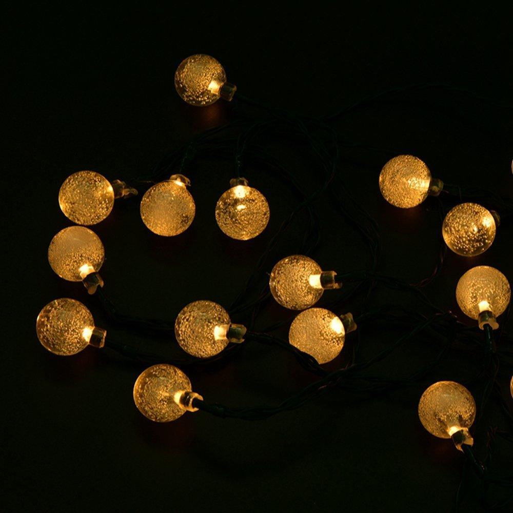 Hanging String Globe Lights : Globes Lights LED Crystal Ball String Outside Hanging Lamp Yard Wedding Party