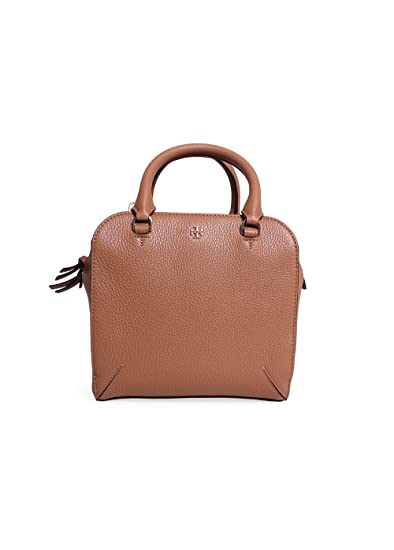 5bc3ec70747 Image Unavailable. Image not available for. Color  Tory Burch Robinson  Pebbled Mini Satchel in Tigers Eye