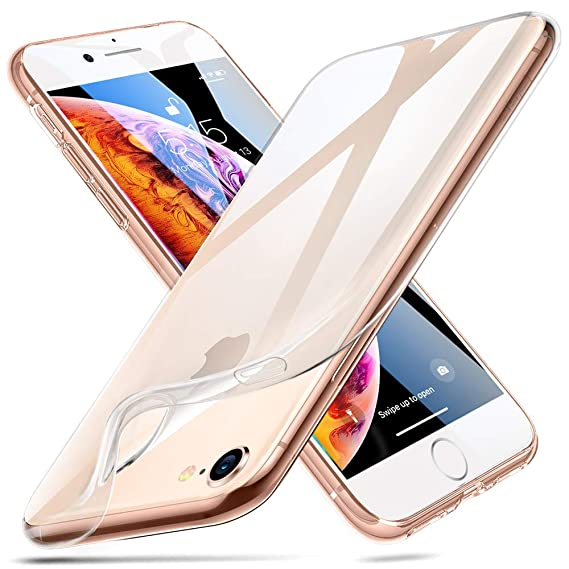 lowest price 8257b eb619 ESR iPhone 8 Case, iPhone 7 Case,Slim Clear Soft Flexible TPU Cover for  4.7