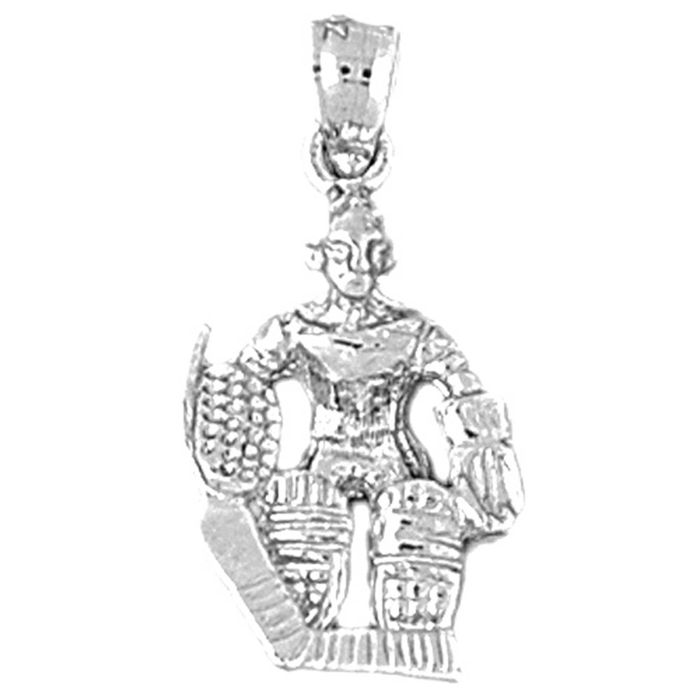 Jewels Obsession Hockey Player Pendant 27 mm Sterling Silver 925 Hockey Player Pendant