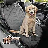 Gorilla Grip - Protectores de asiento de coche para mascotas, resistentes a los deslizamientos, duraderos, universales, para coches, camiones, SUV, agarre en la parte inferior, resistente al agua (negro), Negro, Seat