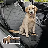 Gorilla Grip Original Premium Slip-Resistant Pet Car Front-Seat Protector for Pets, Free Dog Bowl, Waterproof, Thick Quilted Material, Seat Belt Openings, Extra Large (Premium Front: Black) For Sale