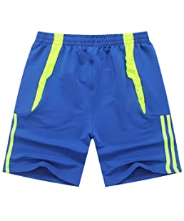 Integrity's Home herren sporthose kurz mit reißverschluss Tunnelzug Sport cool Tunnelzug Running Joggingshorts Mit Elastische Taille Blau S