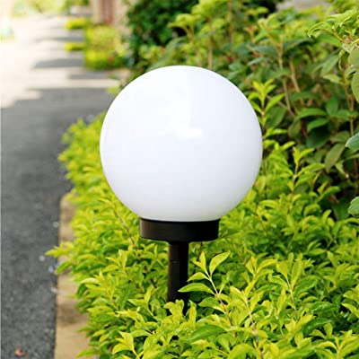 Xisheep Ground Light, LED Solar Power Outdoor Garden Path Yard Ball Light Lamp Lawn Road Patio LED Light Home Decorations, for Home DIY Day White: Home & Kitchen