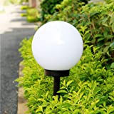 Tefamore Lámpara Solar para Jardín Energía Solar LED Jardín al Aire Libre Camino Patio Lámpara de Luz de Bola Patio de Césped Patio