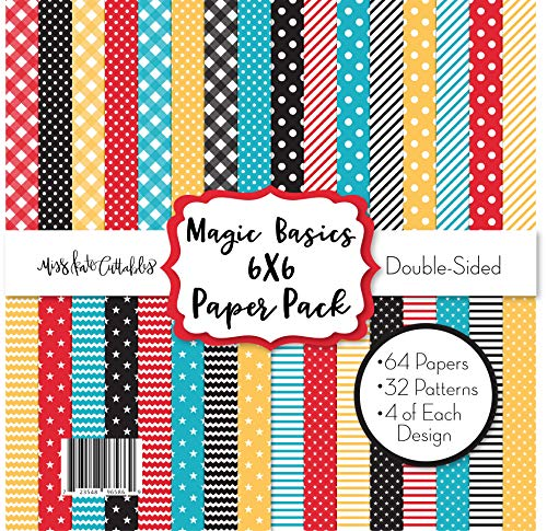 - 6X6 Pattern Paper Pack - Magic Basics - for Disney - Card Making Scrapbook Specialty Paper Double-Sided 6