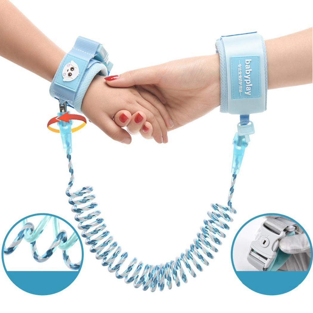 ICCUN Kids Safety Harness Children Leash Wrist Link Anti-Lost Traction Rope Harnesses & Leashes