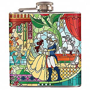 6oz - Beauty And The Beast Liquor Hip Flask Stainless Steel (FK-0532)