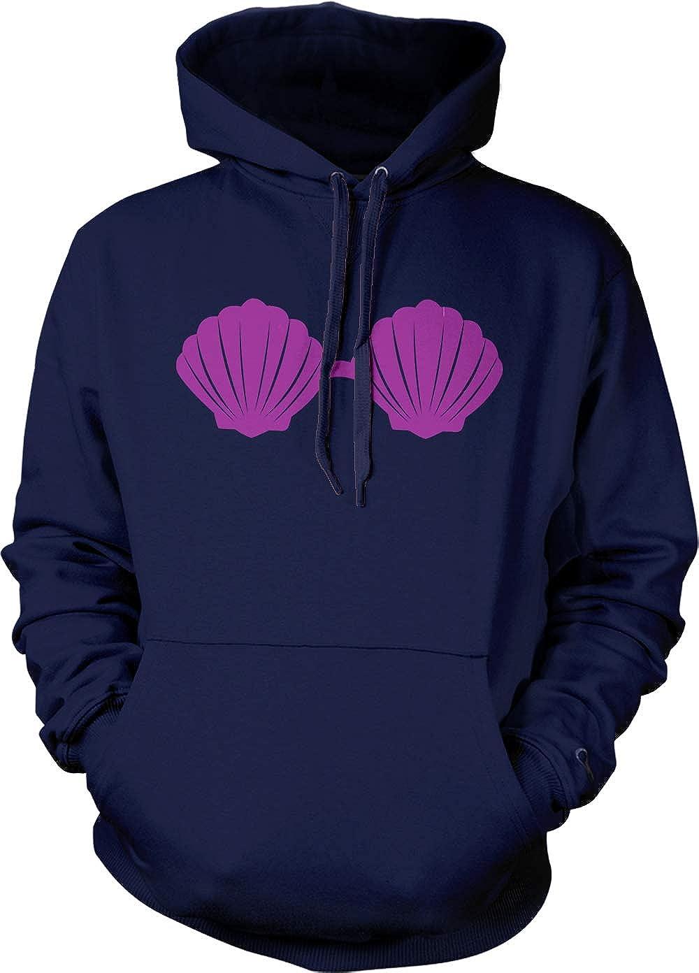 Funny Mermaid Nautical Unisex Hoodie Sweatshirt Seashell Bra
