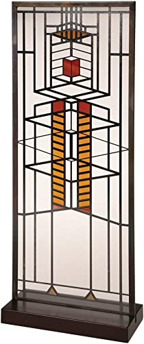 YTC Frank Lloyd Wright Robie Window Stained Glass – 14 x 5.75