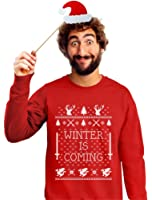Winter Is Coming Ugly Christmas Sweater Men's Sweatshirtwith Xmas Prop