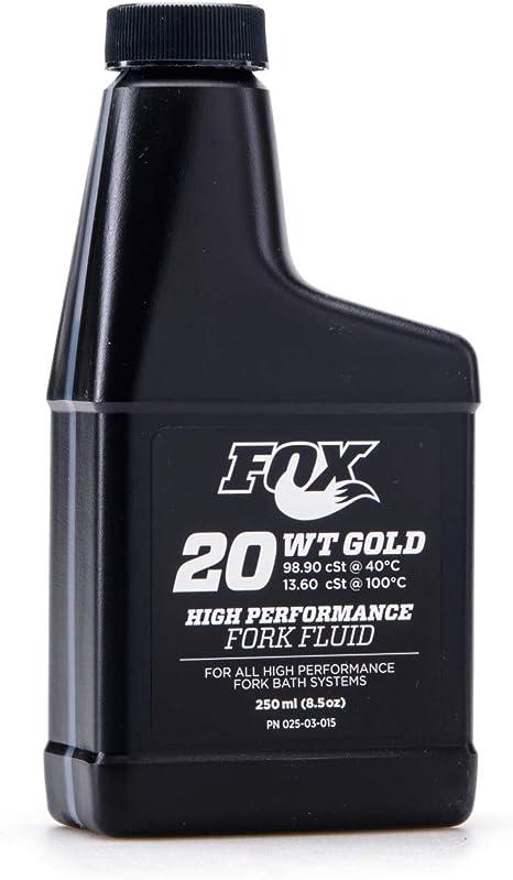 Aceite Fox Suspension Fluid 20wt Gold 8.5oz (250 ml): Amazon.es: Deportes y aire libre