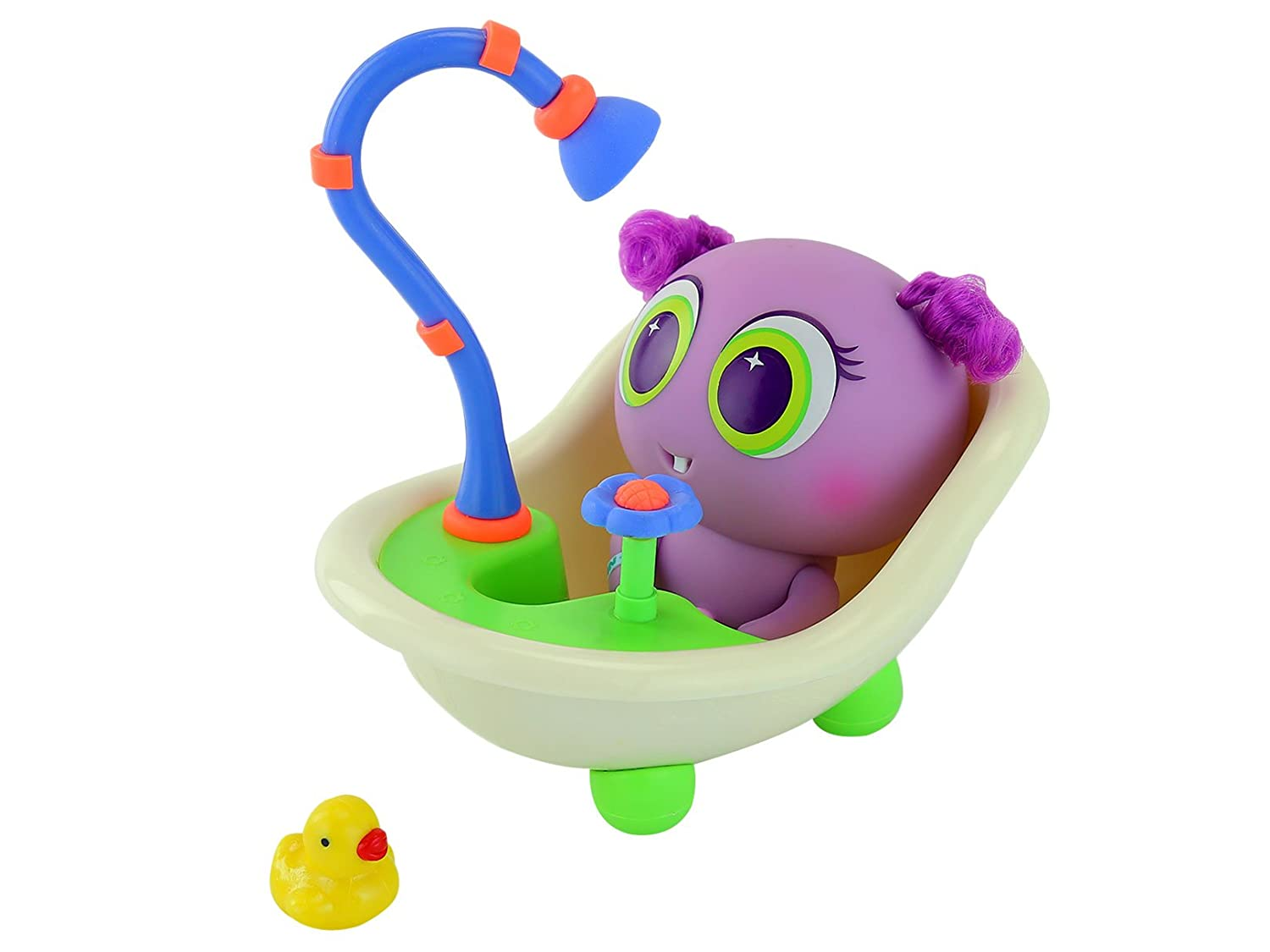 Neonate nerlieグリーン&ブルーBath Tub with Flower & Duck – Mexico Exclusive   B07B6KPNP5