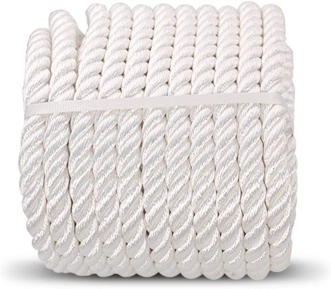 White Pull Rope Cord 1//2 inch x 150 Ft Aoneky Nylon Rope