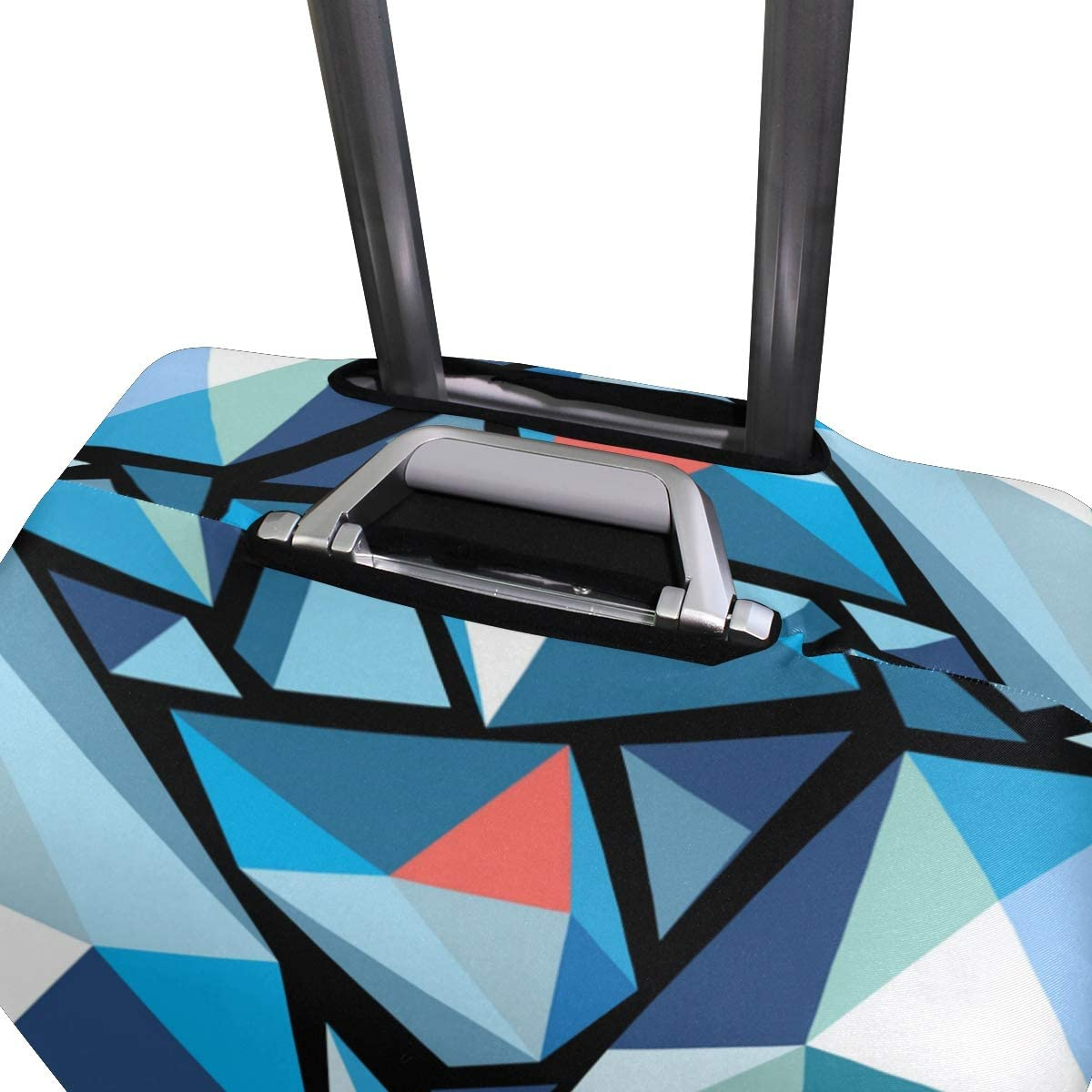 Blue Viper Aesthetic Art Crystal Luggage Protective Cover Suitcase Protector Fits 26-28 Inch Luggage