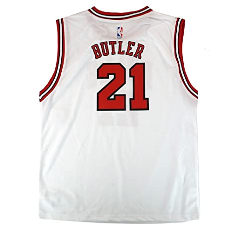9b24649b5 Image Unavailable. Image not available for. Color  Outerstuff Jimmy Butler  NBA Chicago Bulls Official Home White Player Replica Jersey Youth