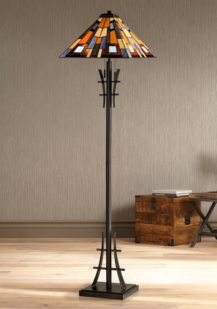 Robert louis tiffany jewel tone art glass floor lamp amazon mozeypictures Images