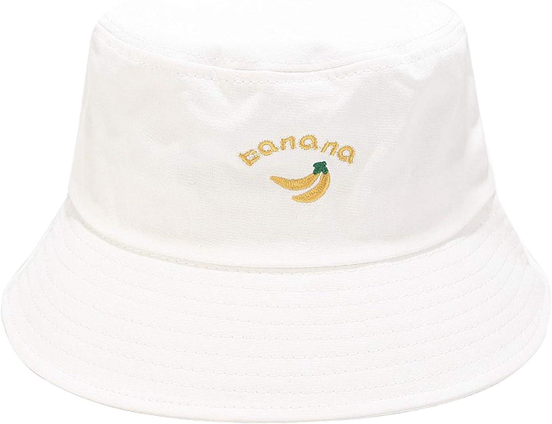 Umeepar 100/% Baumwolle Fischerhut Bestickte Sonnenhut Sommerhut Hut for Damen Herren