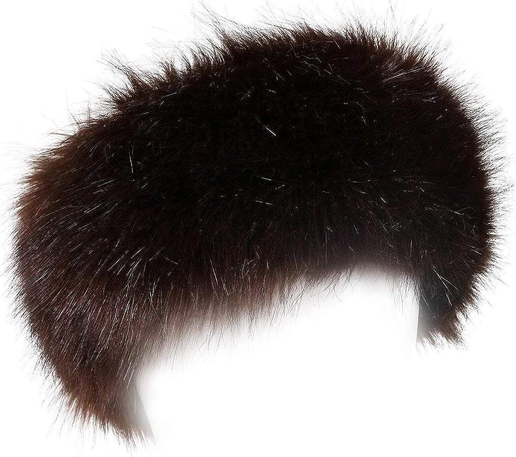 FHQHTH Faux Fur Headband...