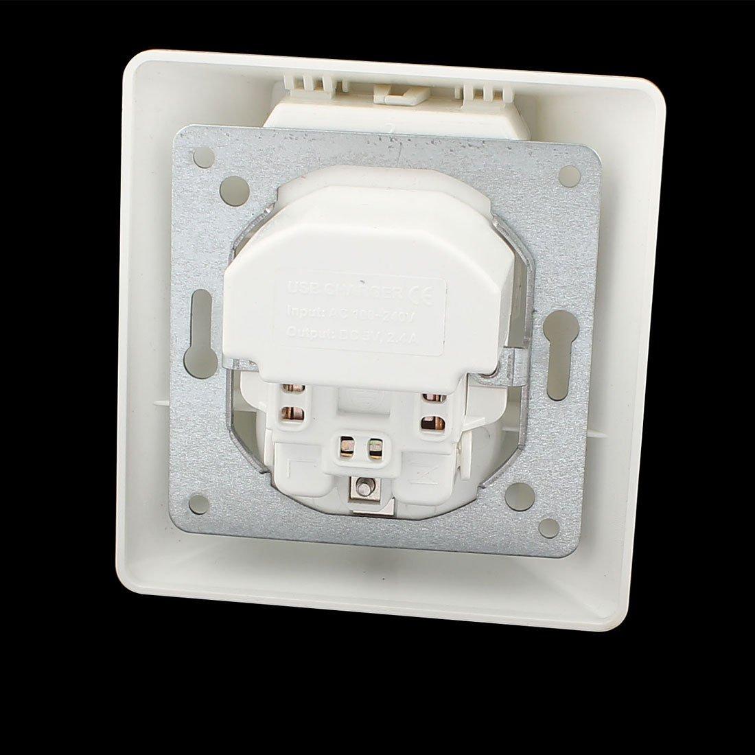 Amazon.com: eDealMax 5VDC 2.4A Cargador CA 100V-240V UE Socket 2 USB interruptor de carga de alimentación enchufe de pared: Electronics