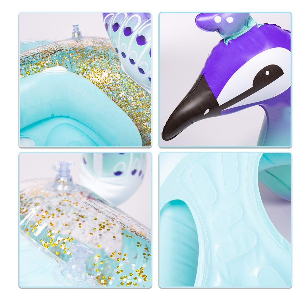 Kids Pool Floats Swim Ring with Safe Handle Water Fun Summer Beach Toys for 3 Kiddy Inflatable Unicorn Pool Float Years Old