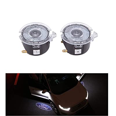 Cszlove 2pcs Car Door LED Logo Puddle Lighting Side Projector Ghost Shadow Lights Courtesy Step Welcome Projector Lamps for Ford Series: Automotive