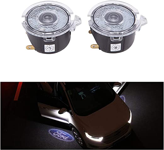2pcs Car Door LED Logo Projector Lights Welcome Ghost Shadow Courtesy Step Lamp Puddle Light
