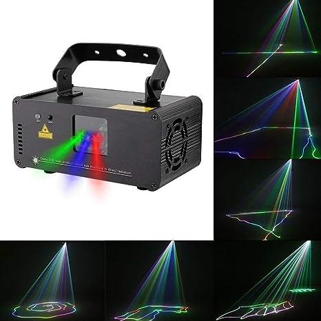 Party luces de sonido portátil de control remoto de luces de ...