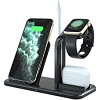 Wireless Charging Stand for Apple Watch 6/SE/5/4/3/2/1, Airpods and Smartphones 7.5W/10W Qi Fast Inductive Charger for…