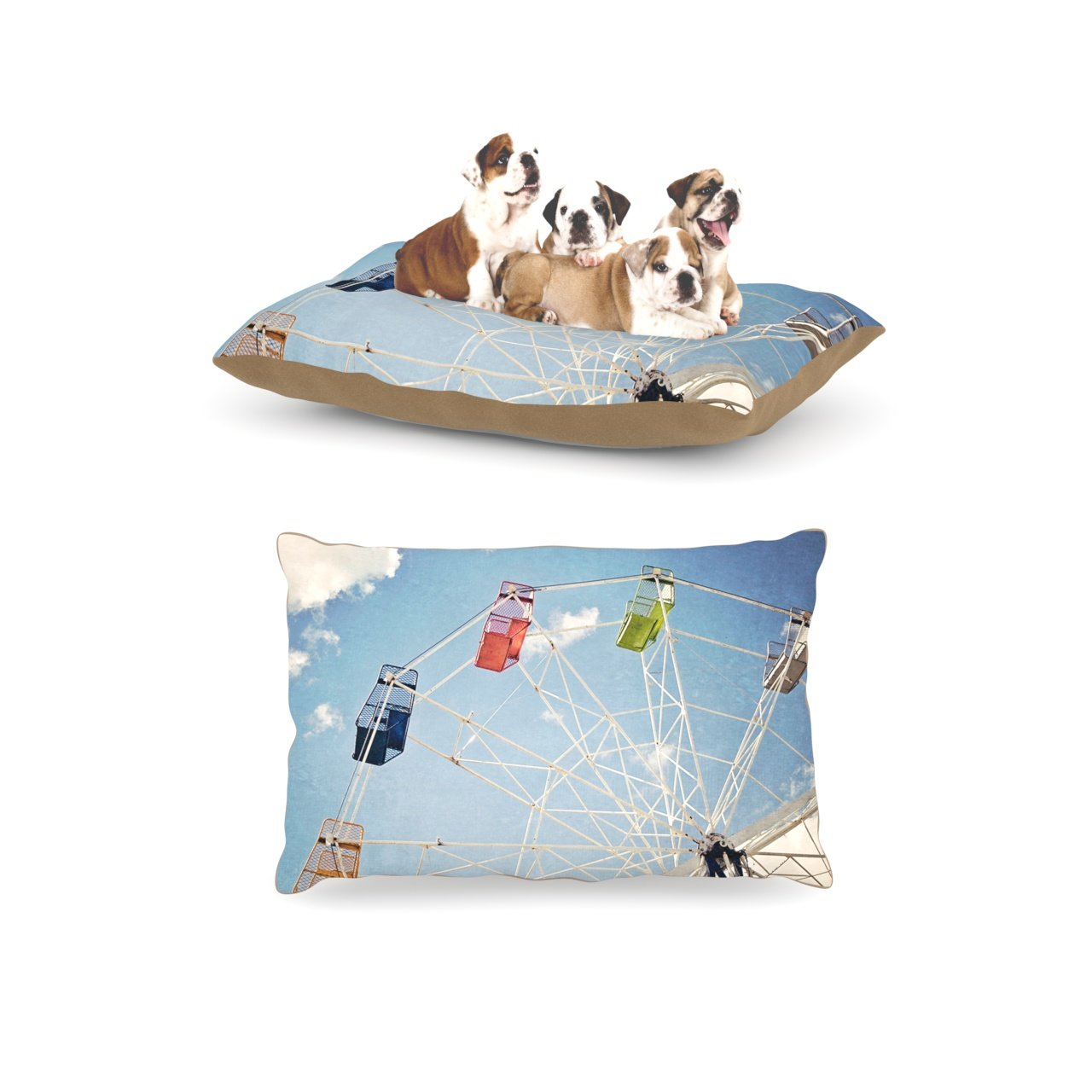 L 30 Inches x 40 Inches Kess InHouse Susannah Tucker The Show Came to Town Carnival Dog Bed