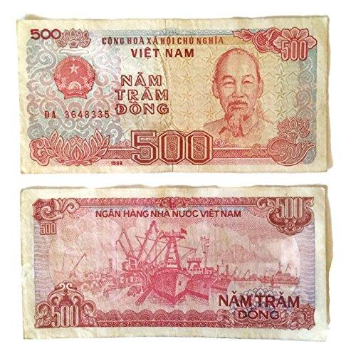 Vietnam Paper - Vietnam 500 Dong Old Rare Viet Nam Banknote Paper Money 1988