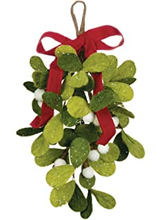 sullivans 12 inch felt mistletoe drop hanging decorative ornament